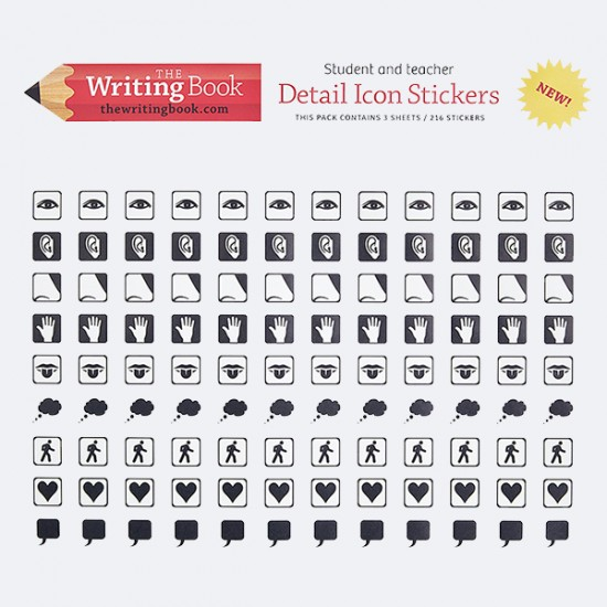 Stickers - 1 Pack (3 Sheets x 108 stickers)